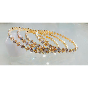 4 Pcs Exquisite Indian Kara Set- K0135