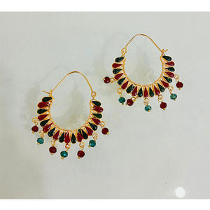 Multi Color Round Earing- K0143