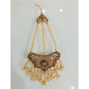Kashmiri Kundan Indian Matha Tika- K0179