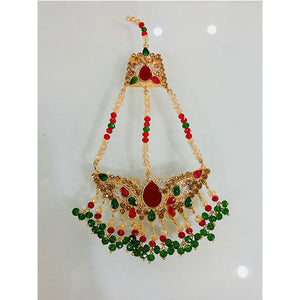 Multicolor Beads Indian Matha Tika- K0180