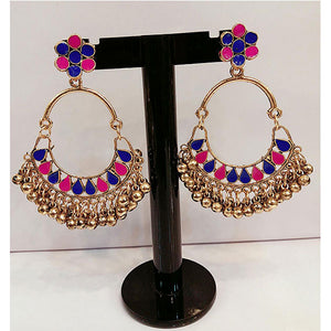 Multi Color Exquisite Indian Jhumka- K0224
