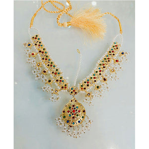 Gold Plated Multi Stone Necklace- K030
