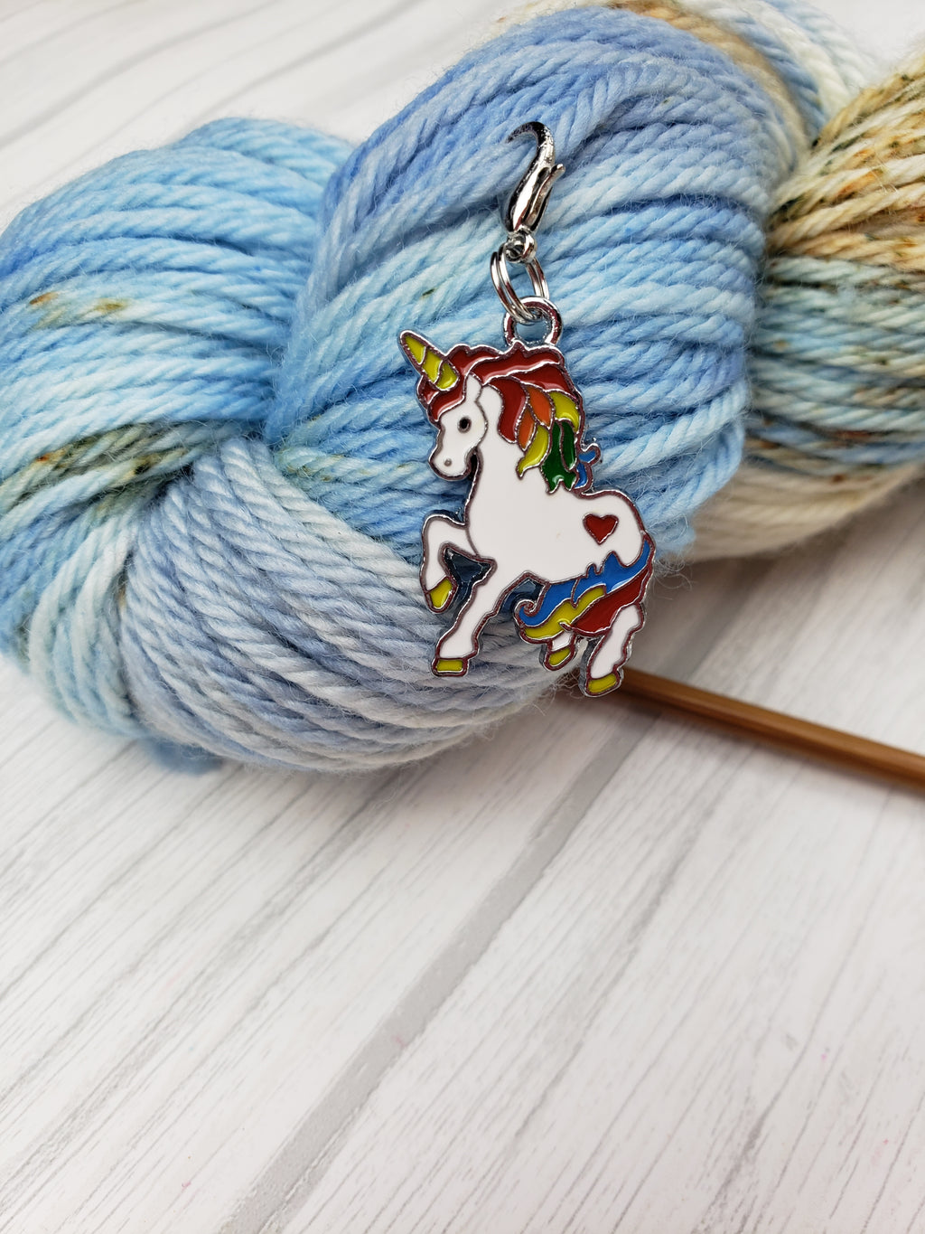 Unicorn Charms, Set of 3 - Spindle warps yarns