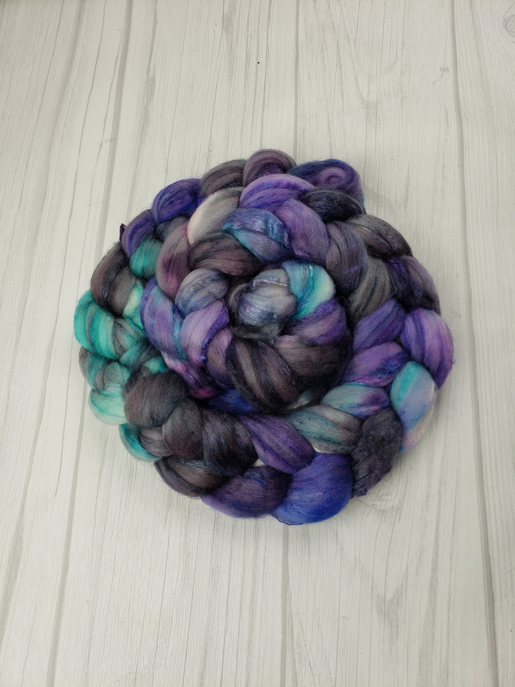 Ursula Merino/Tussah Silk 80/20 Hand Dyed Fiber - Spindle warps yarns