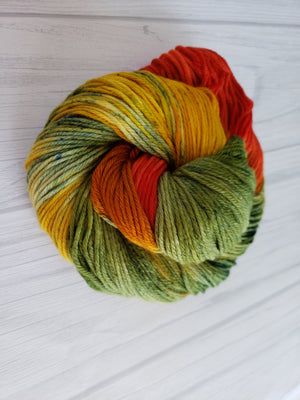 Fall in Avonlea, Hand Dyed Yarn in Sock Weight - Spindle warps yarns