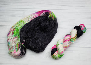 Roller Rink Snap Bracelet, Hand Dyed Yarn in Sock Weight - Spindle warps yarns