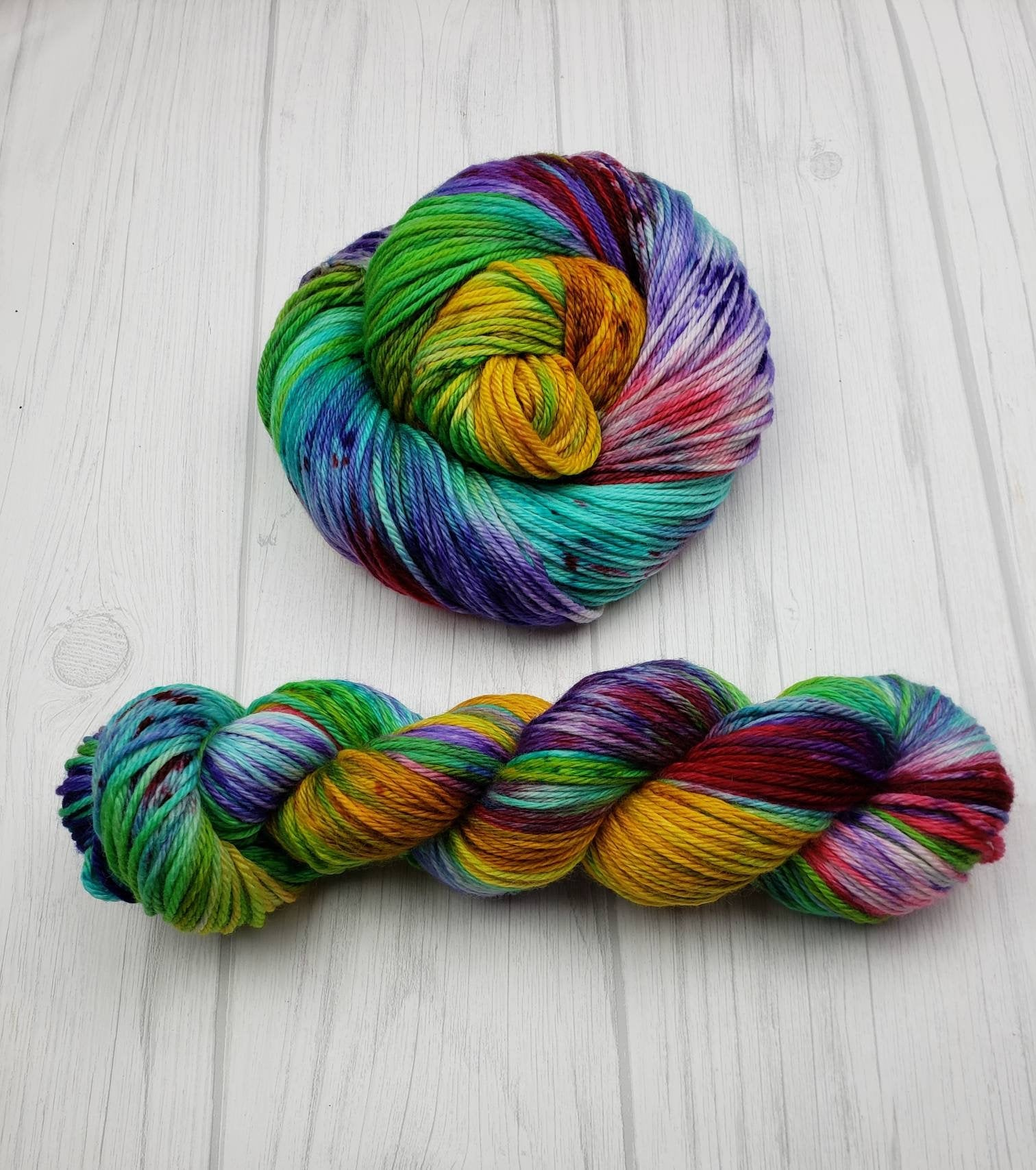 Thanos Loves to Knit, Hand Dyed Yarn in Sock Weight - Spindle warps yarns