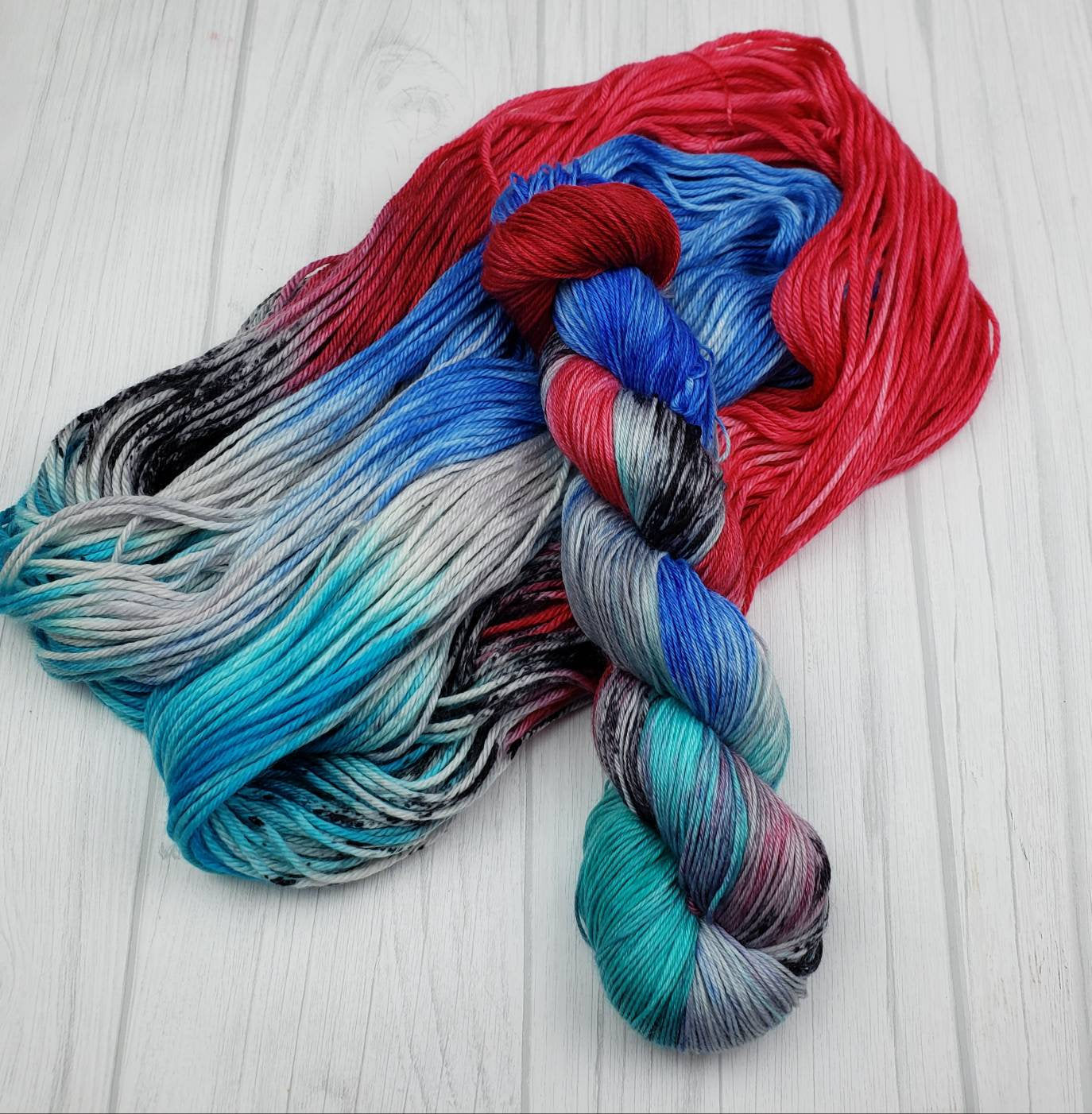 Skywalker, Hand Dyed Yarn in Sock Weight - Spindle warps yarns