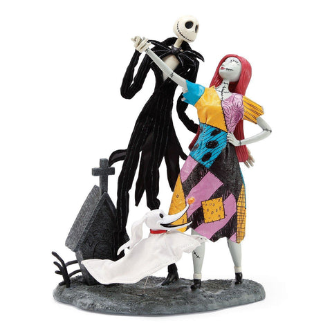 Jack, Sally and Zero 25 year figurine