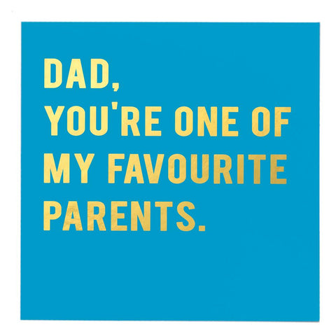 Dad favourite parent card