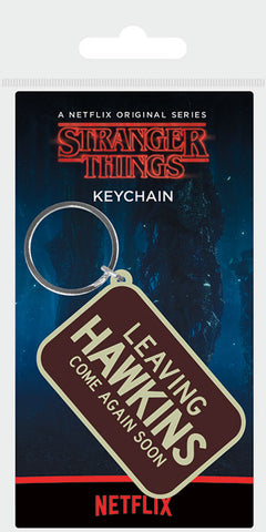 ST Leaving Hawkins Rubber Keychain
