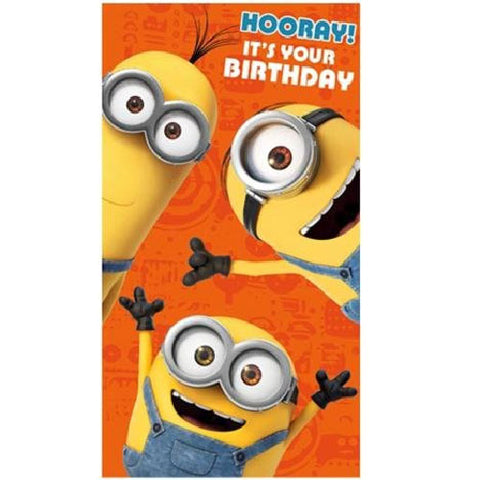 Minions hooray card