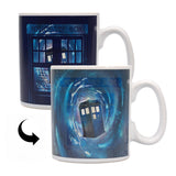 Dr Who Tardis heat change mug