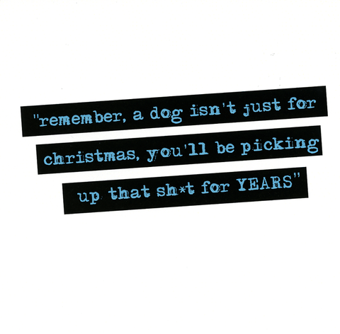 A dog isnt just for christmas