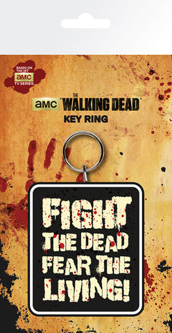 The Walking Dead fight the dead keyring