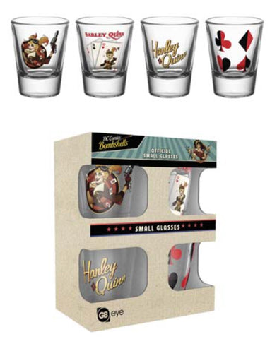 Harley Quinn shot glass set