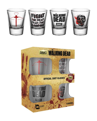 SALE The Walking Dead sayings shot glasses