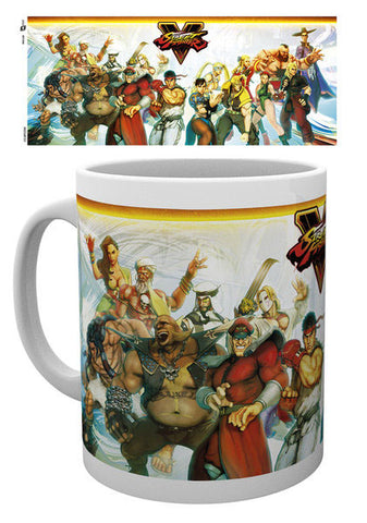 Street fighter character mug