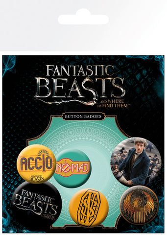 Fantastic beasts badge pack