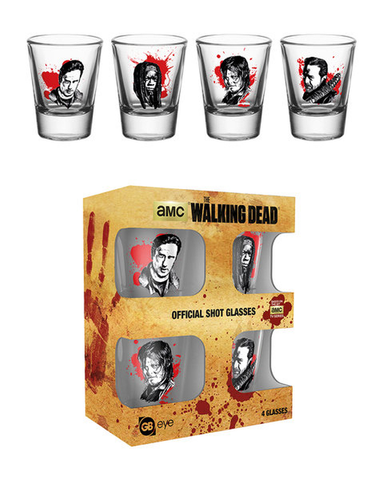 SALE The Walking Dead Characters shot glasses