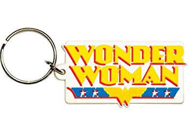 Wonder Woman logo keyring
