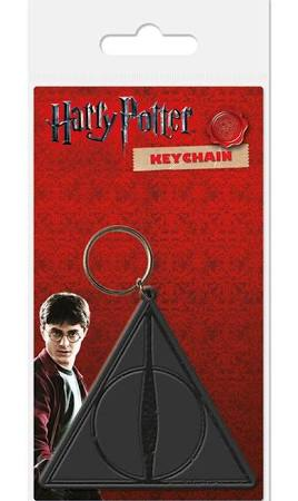 Deathly hallows logo keyring