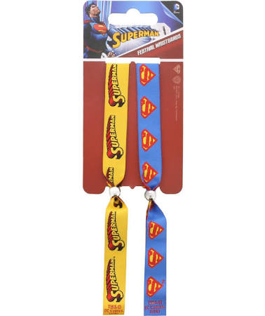 Superman festival wristband