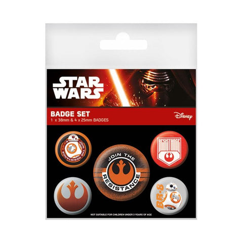 Star Wars resistance badge pack