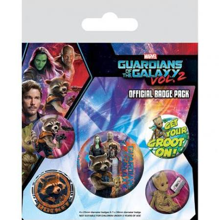 Guardians of the Galaxy Vol2 Groot badge pack