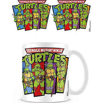 Turtles retro group mug