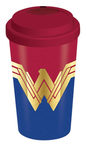 Wonder Woman Emblem Travel Mug