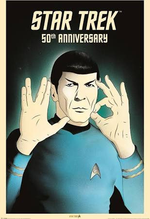 Spock anniversary poster
