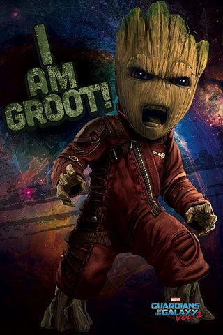 GOTG2 Angry Groot poster