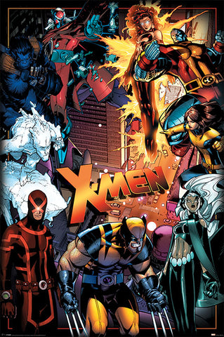 X-Men characters poster
