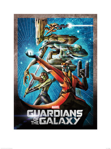 Guardians of the Galaxy one sheet framed print