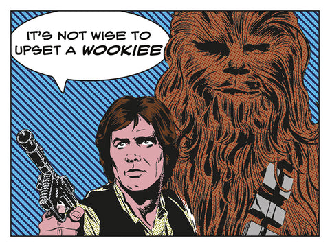 Upset a wookie canvas