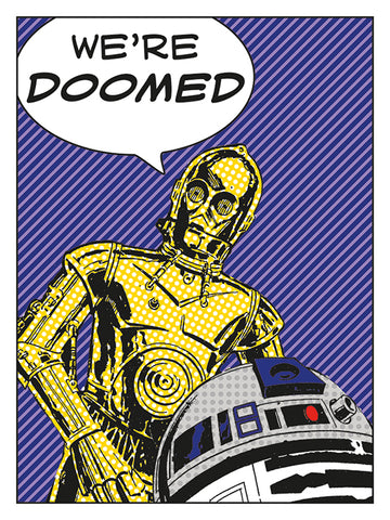 Doomed C3P0 canvas