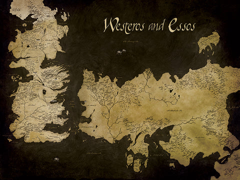 Westeros Essos map canvas