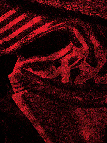 Kylo Ren mask canvas