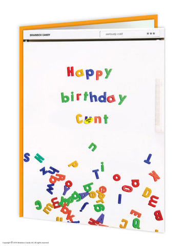 Happy Birthday Cunt card