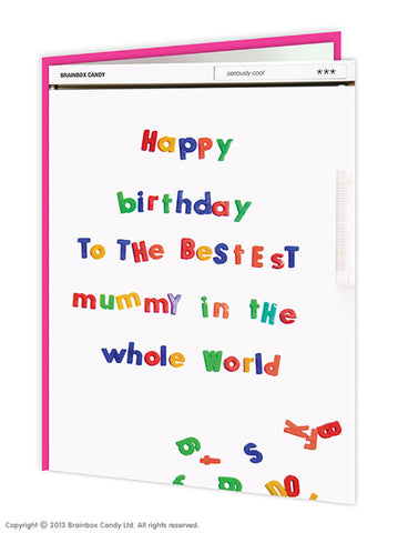 Birthday bestest mummy card