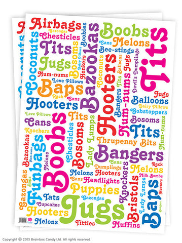 Rude Humour Wrapping Paper