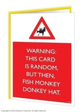 Fish donkey hat card