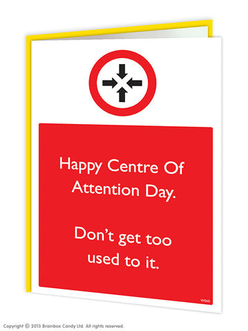 Centre of attention card