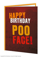 Happy birthday poo face card