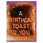 A birthday toast card