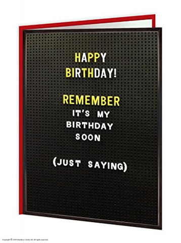 Just saying card