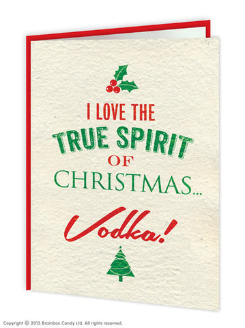Vodka Spirit Xmas Card