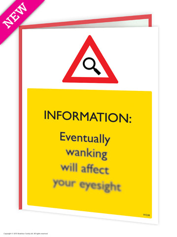 Wanking eyesight card