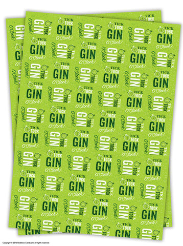 Tick tock gin wrapping paper